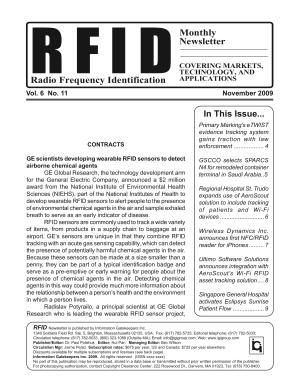RFID Monthly Newsletter November 2009 PDF