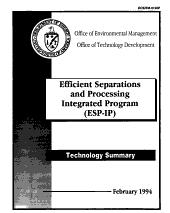 Efficient separations and processing integrated program (ESP-IP).