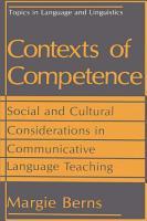 Contexts of Competence PDF