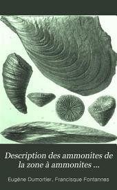 Description des ammonites de la zone à ammonites tenuilobatus de Crussol (Ardèche), et de quelques autres fossiles jurassiques nouveaux ou peu connus