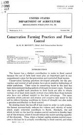 Conservation farming practices and flood control