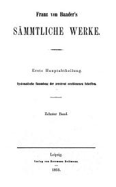 Franz von Baader als Begründer der Philosophie der Zukunft