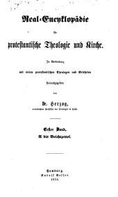 Real-encyclopädie für protestantische Theologie und Kirche: Band 1