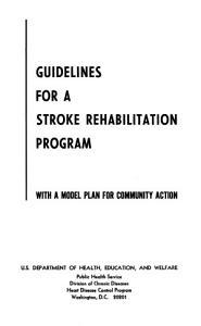 Guidelines for a Stroke Rehabilitation Program PDF