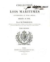 Collection de lois maritimes antérieures au XVIIIe siècle ...