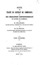 Traité du contrat de commission: Volume3