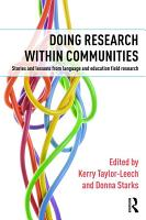 Doing Research within Communities PDF