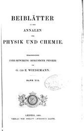Annalen der Physik: Beiblätter, Band 12