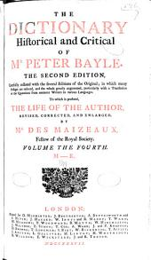 The dictionary historical and critical of Mr. Peter Bayle: Volume 4