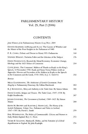 Parliamentary History PDF