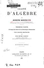 Traité d'algèbre