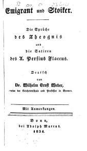 Sprüche und die Satiren des A. Persius Flaccus