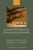 Economic Development and Environmental Sustainability PDF