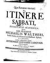 De itinere sabbathi exercitatio academica