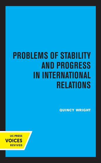 Problems of Stability and Progress in International Relations PDF