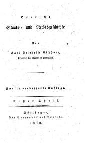 Deutsche Staats und Rechtsgeschichte