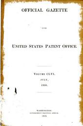 Official Gazette of the United States Patent Office: Volume 156