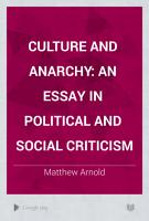 Culture and Anarchy PDF