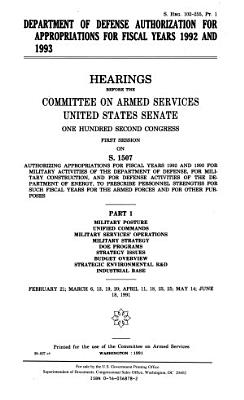 Department of Defense Authorization for Appropriations for Fiscal Years 1992 and 1993