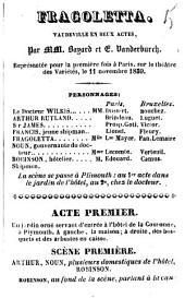 Fragoletta: vaudeville en deux actes