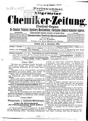 Allgemeine Chemiker Zeitung0 PDF