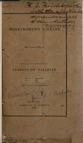 Address on Taxation