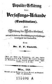 Populäre Erklärung der Verfassungs-Urkunde (Constitution)