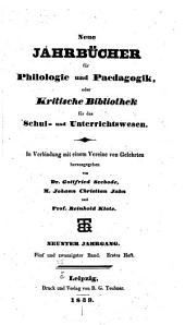 Neue Jahrbücher für Philologie und Paedagogik: Band 25
