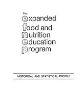 The Expanded Food and Nutrition Education Program: Historical and Statistical Profile