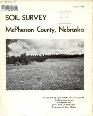Soil Survey  McPherson County  Nebraska