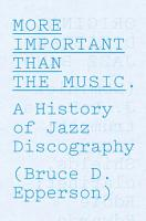 More Important Than the Music PDF