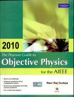 The Pearson Guide to Objective Physics for the AIEEE PDF