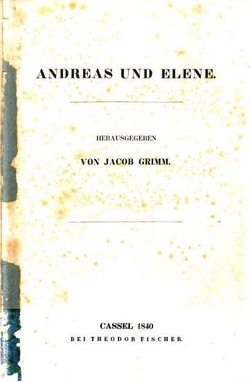 Andreas und Elene PDF