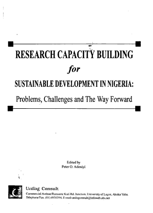 Research Capacity Building for Sustainable Development in Nigeria