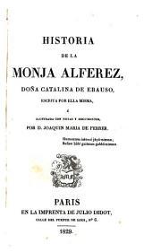 Historia de la monja alférez: doña Catalina de Erauso