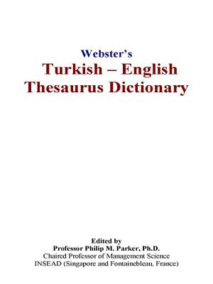 Webster s Turkish   English Thesaurus Dictionary PDF