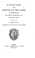 M  Tullius Cicero of the Nature of the Gods  With     Notes  by T  Francklin   To which is Added  An Inquiry Into the Astronomy and Anatomy of the Ancients PDF
