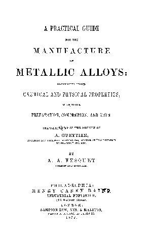 A Pratical Guide for the metallicalloys