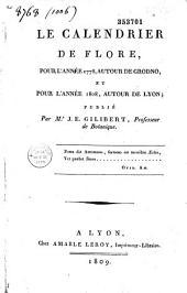 Le calendrier de flore pour l'année 1778 autour de Grodno et pour l'année 1808 autour de Lyon