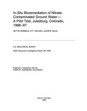 In situ Bioremediation of Nitrate contaminated Ground Water PDF