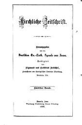 Kirchliche Zeitschrift: Volumes 12-15