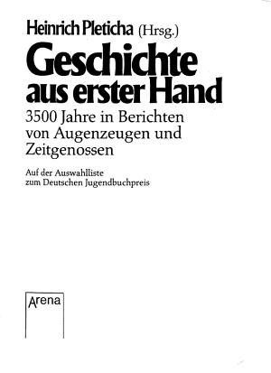 Geschichte aus erster Hand PDF