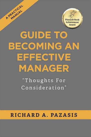GUIDE TO BECOMING AN EFFECTIVE MANAGER PDF