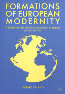 Formations of European Modernity