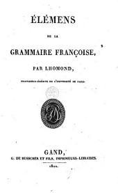 Elémens de la grammaire françoise