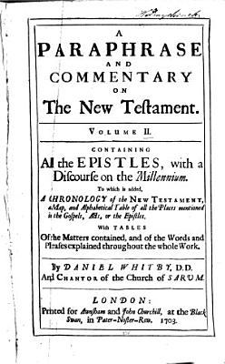 A Paraphrase and Commentary on the New Testament PDF