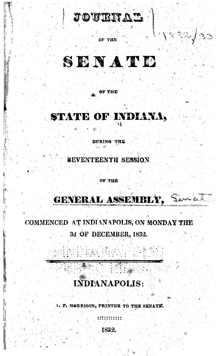 Journal of the Indiana State Senate ... of the General Assembly, ...