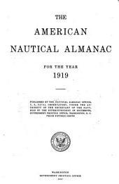 The American nautical almanac: Volume 1919