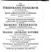 De lubrico iurisiurandi Iudaeorum, et generatim et illius speciatim quod ordinatione camerali parte I. titulo LXXXVI. legitur