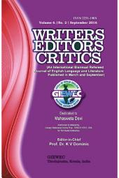 Writers Editors Critics (WEC) Vol. 6, No. 2: September 2016 - Tribute to Mahasweta Devi